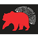 Redmond Middle logo: grizzly bear